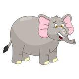 大象动画片传染媒介例证 免版税库存照片