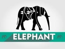 大象印刷术,传染媒介大象印刷术 免版税库存图片