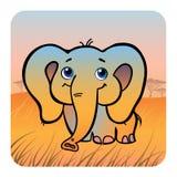 大象友好大草原 皇族释放例证