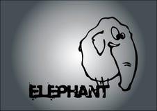 大象向量 皇族释放例证