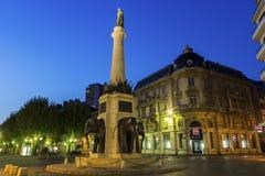 大象喷泉在Chambéry在法国 免版税库存图片