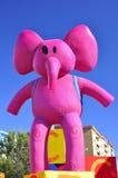 大象国王魔术游行粉红色 库存照片