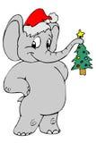 大象圣诞老人 库存图片