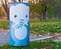 大象垃圾桶 免版税图库摄影