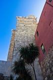 大象塔或Torre dell'Elefante在Castello街市区,卡利亚里,撒丁岛 图库摄影