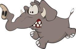 大象小牛动画片 免版税库存照片