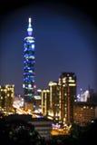 大象山的台北101 免版税库存照片