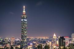 大象山的台北101 库存照片