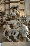 大象战斗 Ranganayaki Andal寺庙, Channakeshava寺庙 库存图片