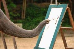 大象显示, Changmai,泰国 免版税库存图片