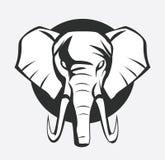 大象标志 库存例证
