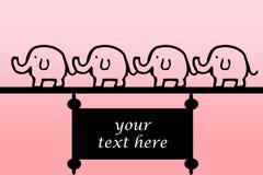 大象横幅 图库摄影