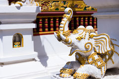 大象泰国寺庙建筑学 库存图片