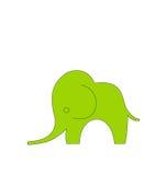 大象的动画片孩子被隔绝 库存例证