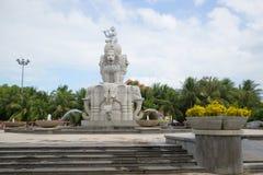 大象的喷泉,多云夏日在芽庄市 越南 库存照片