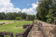 大象的大阳台,吴哥窟,柬埔寨 免版税库存图片