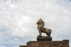 大象的大阳台,吴哥窟,柬埔寨 免版税库存照片