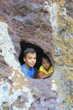 大象的岩石在卡斯泰尔萨尔多,撒丁岛 免版税库存图片