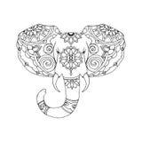 大象的手拉的例证 免版税库存图片
