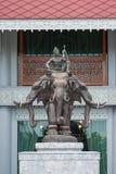 大象石雕象 免版税库存图片