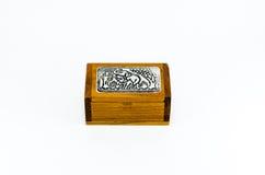 大象礼物盒,被隔绝的,泰国礼物盒 免版税库存照片