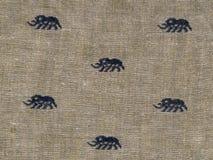 大象纺织品 免版税库存照片