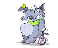 大象网球 向量例证