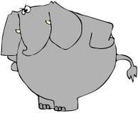 大象翻倒 库存图片