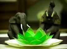 大象莲花 库存图片