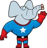 大象超级英雄 向量例证