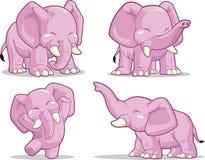 大象身分,跳舞&培养其树干 免版税库存图片