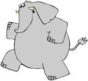 大象运行中 向量例证