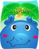 大象逗人喜爱在狂放的背景中 免版税库存图片