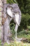 大象雕塑石头 免版税库存图片