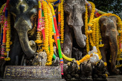 大象雕塑 库存照片