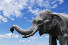 大象雕象 免版税图库摄影
