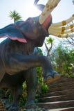 大象雕象 库存照片