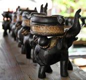 大象雕刻 免版税库存照片