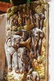 大象雕刻 库存照片