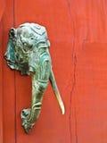 大象顶头雕象 库存图片