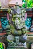 大象巴厘语上帝雕象 库存图片