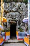 大象洞在果阿Gajah,巴厘岛,印度尼西亚 免版税库存图片