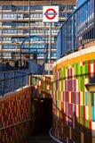 大象&城堡地铁车站入口南伦敦英国 免版税库存照片