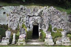大象洞,果阿Gajah寺庙巴厘岛印度尼西亚 免版税库存照片