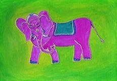 大象绘画 免版税库存照片