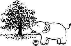 绘画大象 免版税库存图片