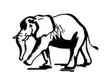 大象kariba湖拍摄了剪影津巴布韦 库存例证