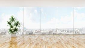 大豪华现代明亮的内部公寓客厅与 免版税库存图片