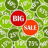 大贴现销售额向量 免版税库存图片