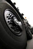 大轮胎通信工具 库存照片
